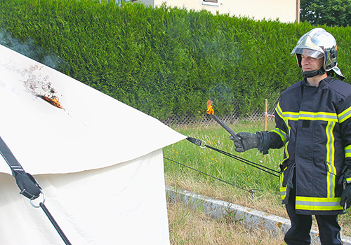 Making history: ShelterBox first to offer fire retardant tents