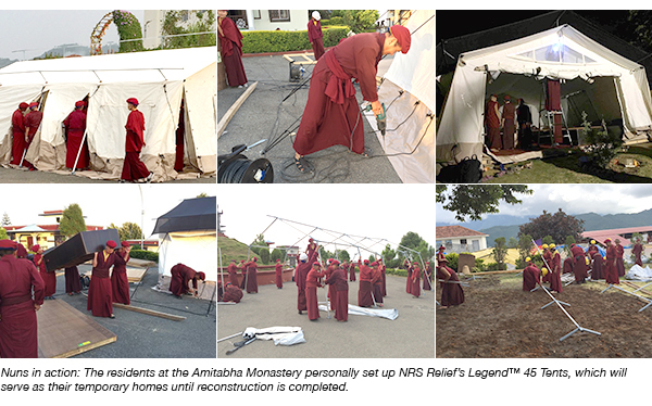 NRS Relief | Nepal monastery nuns in action