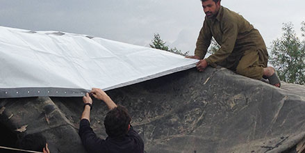 NRS Relief Tarpaulins in Action in Afghan IDP Camps