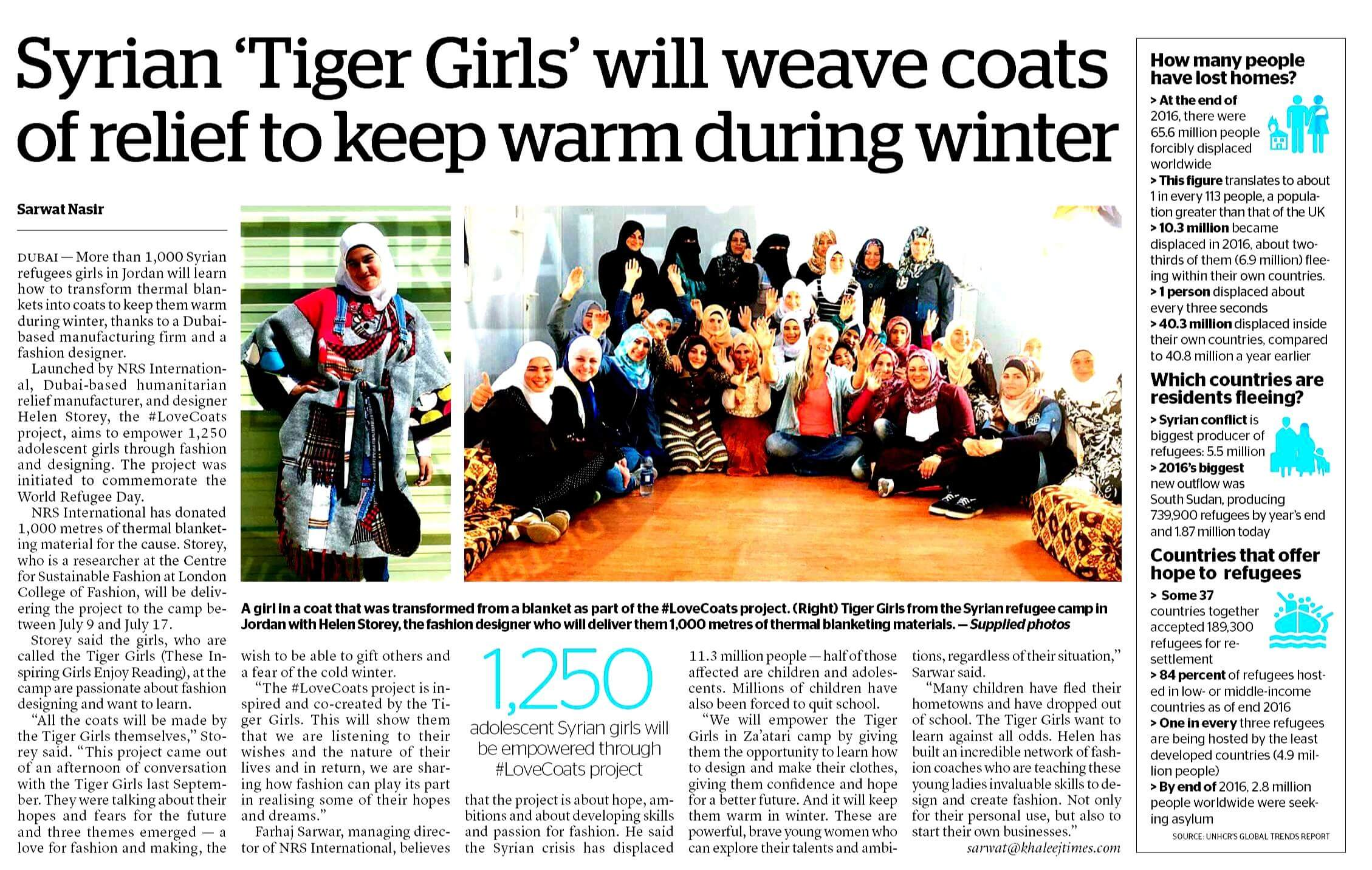 #LoveCoats project makes headlines on World Refugee Day