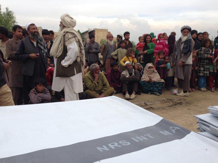 Tarpaulins distribution Afghanistan