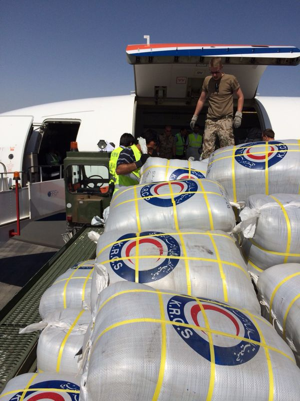 KRC distributes relief goods to Afghanistan