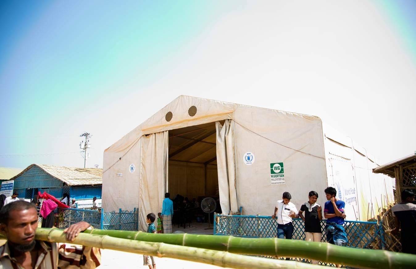 NRS Relief Rex Hall Mobile Storage Unit 10 x36 | Rohingya refugee camp