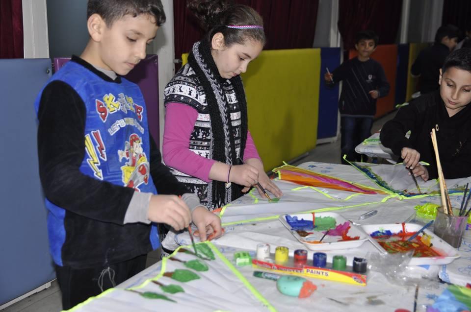 flyforpeace kite art workshop