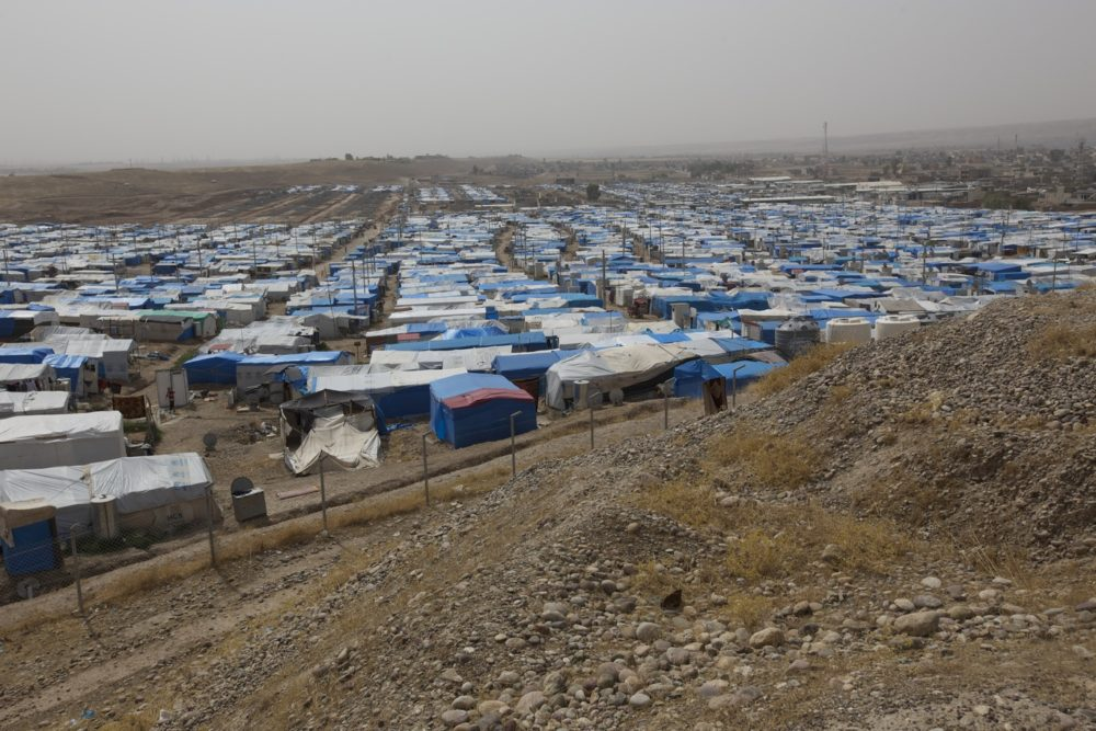Relief and tent shoot iraq camp