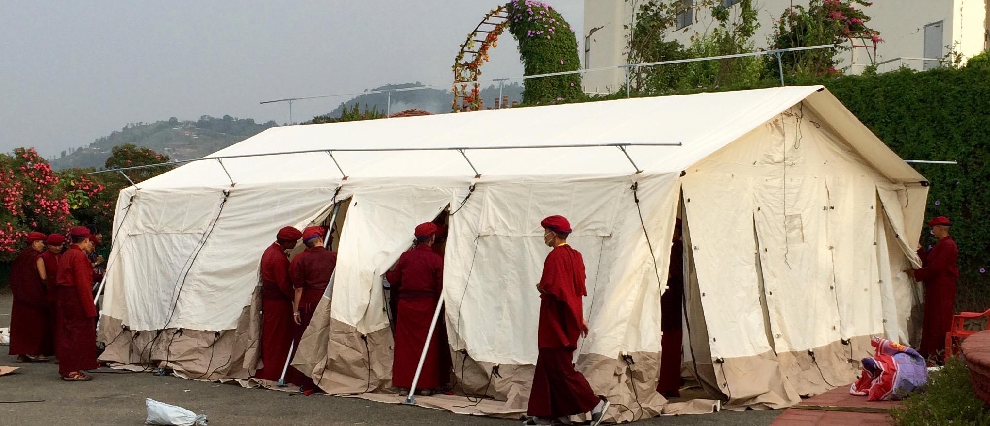 Legend tents monastery_nepal