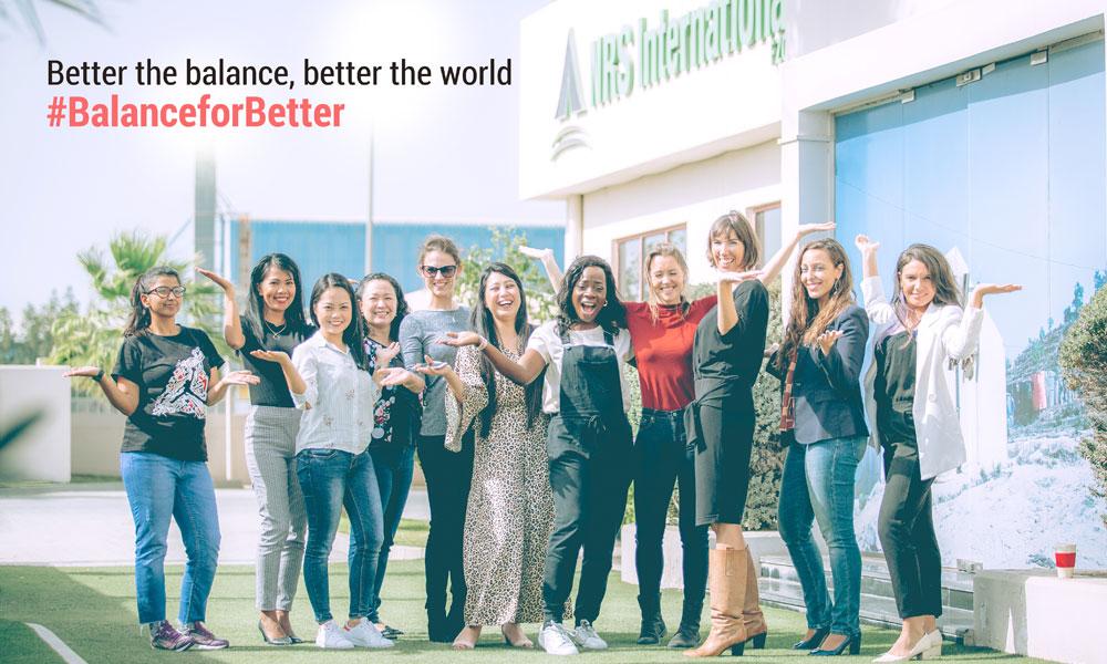 NRS International shows balanceforbetter on International Women Day