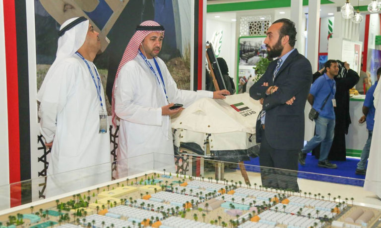 Charbel explaining to UAE locals about NRS International at DIHAD 2019