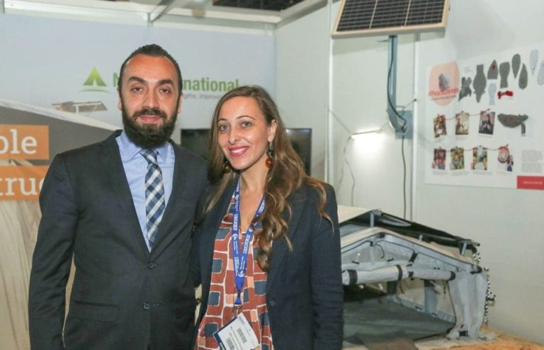Francesca & Charbel at NRS International booth on DIHAD event 2019