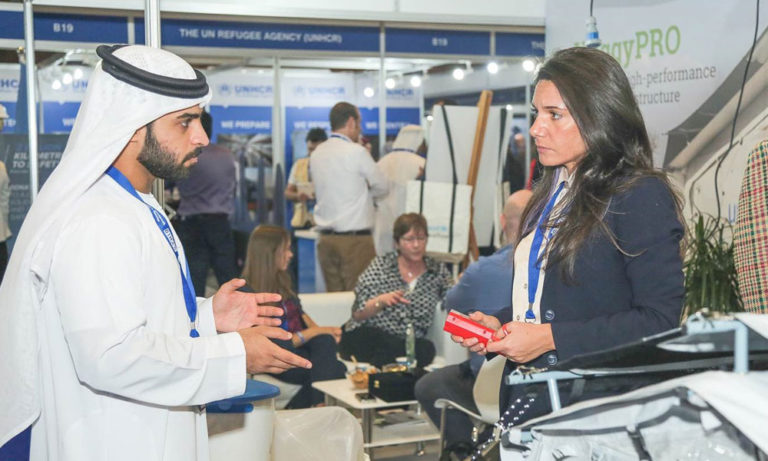Martina speaks with UAE local about NRS International at DIHAD 2019