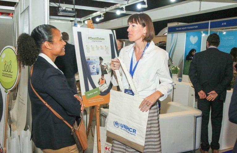 Wieke sharing the information at DIHAD 2019