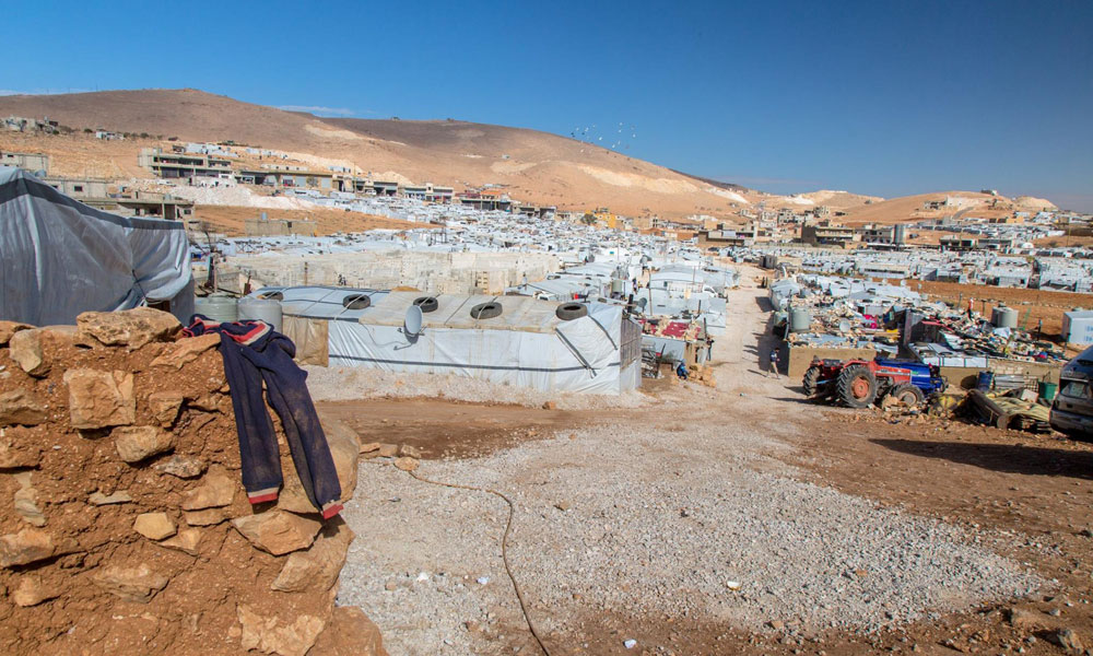 A view of NRS Relief Arsal camp at Lebanon in 2018