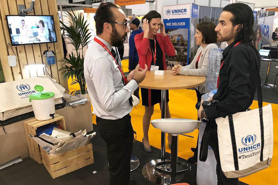 NRS International team booth at AidEx 2018 Brussels expo