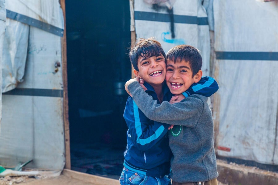 NRS Relief Arsal camp at Lebanon in 2018 smiling faces