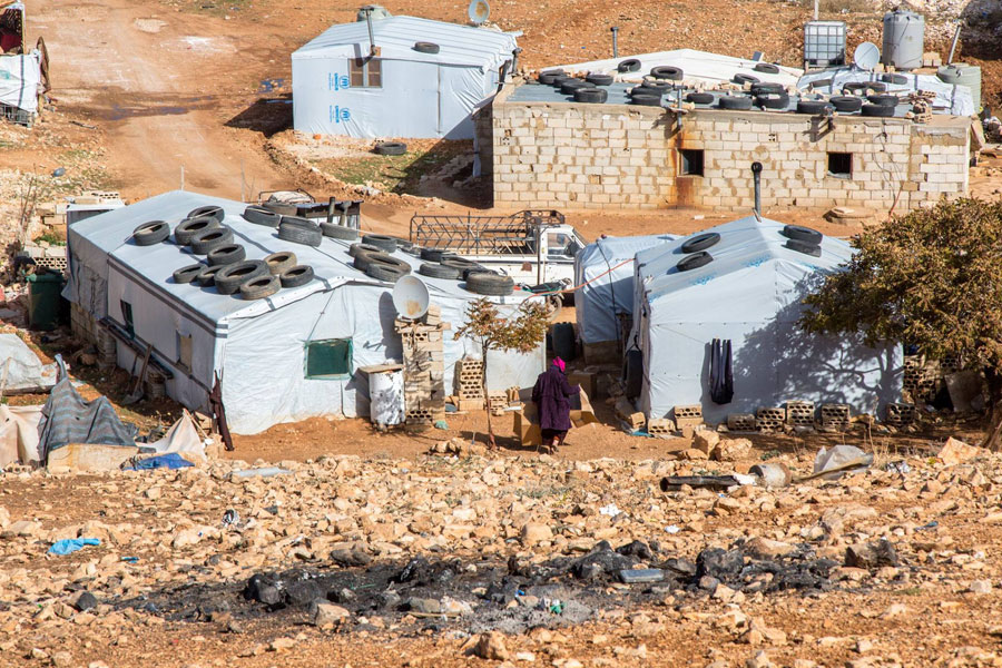 NRS Relief Arsal camp at Lebanon in 2018 wide view