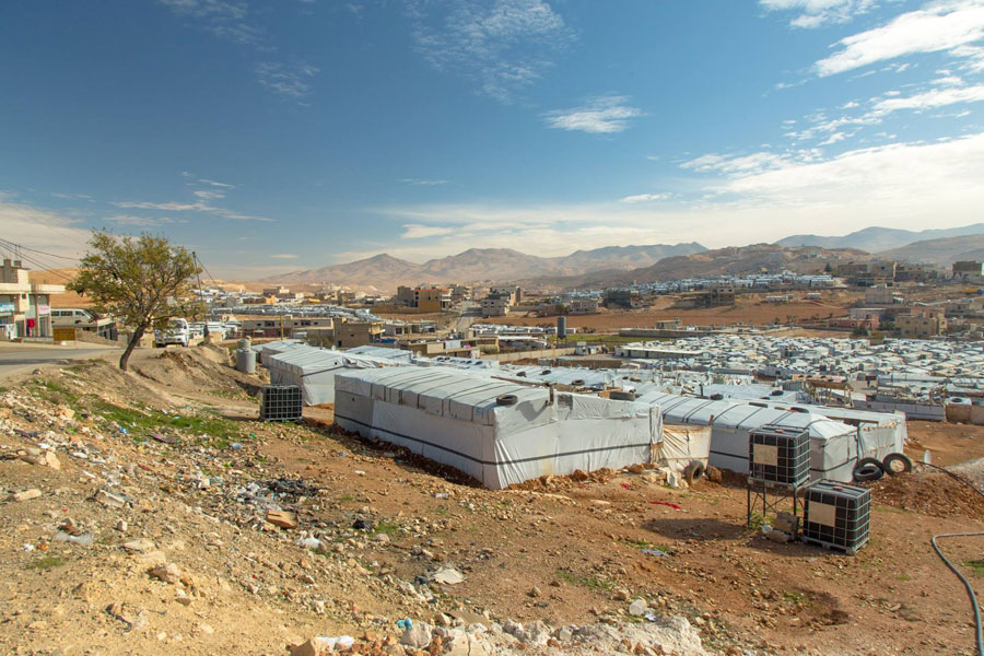 NRS Relief Arsal camp Lebanon 2018 full tent view