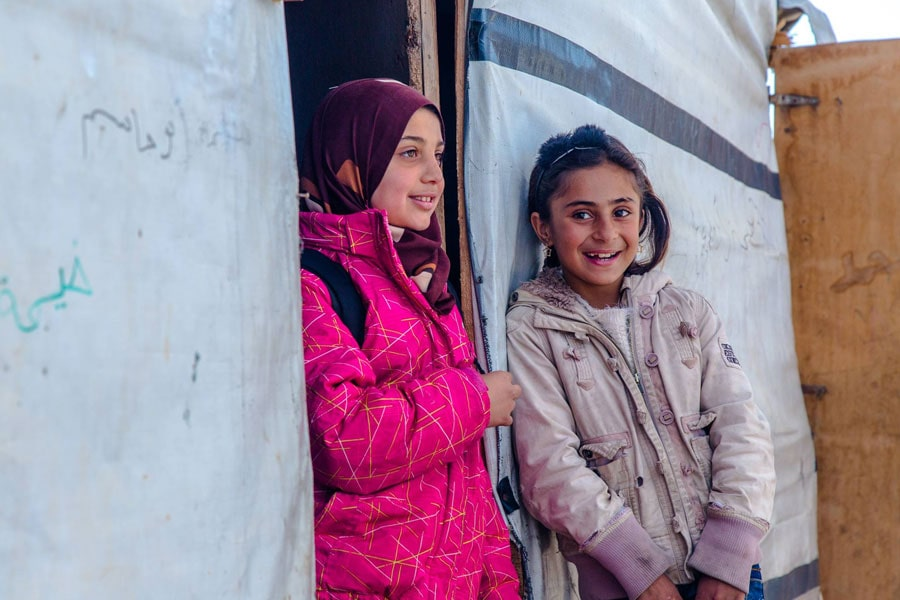 NRS Relief Arsal camp Lebanon 2018 refugee girls