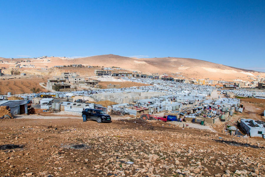 NRS Relief Arsal camp Lebanon 2018 wide tent view