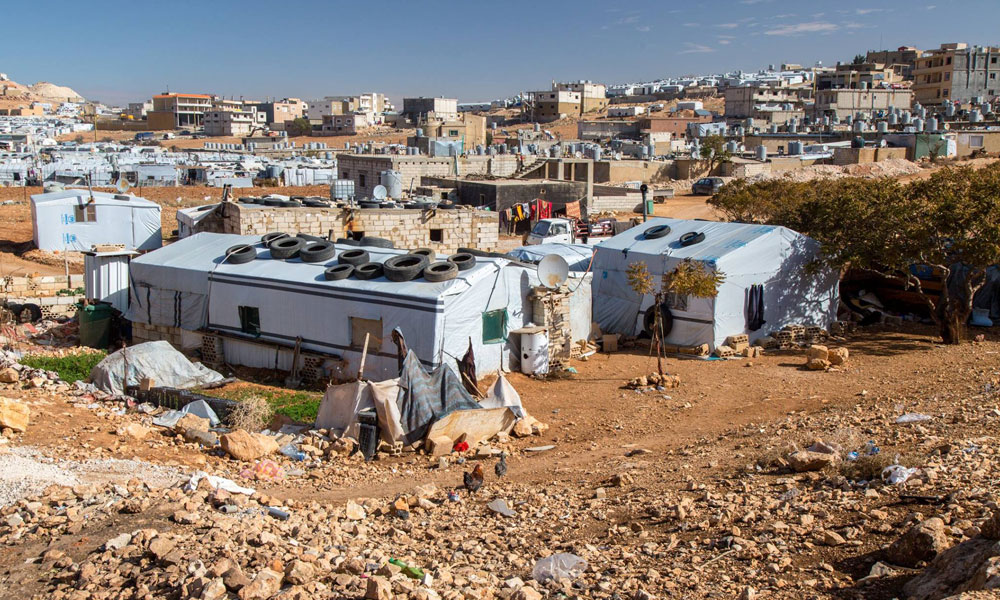 wide view of NRS Relief Arsal camp Lebanon 2018