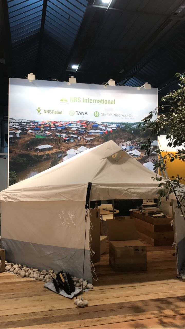 booth of NRS International at AidEx 2017 Brussels Expo