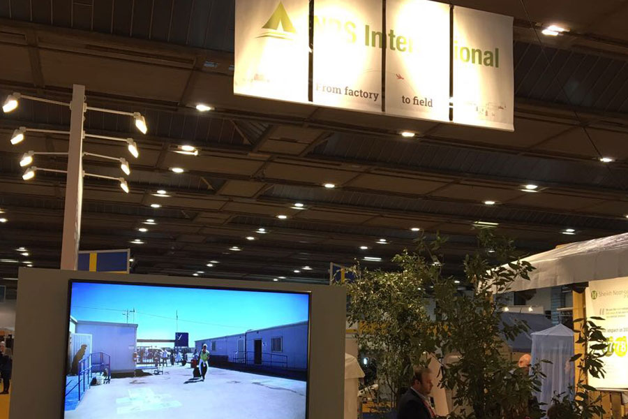 booth view of NRS International at AidEx 2017 Brussels Expo