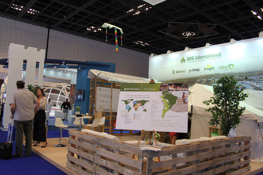 front left side of NRS Relief booth at DIHAD 2017
