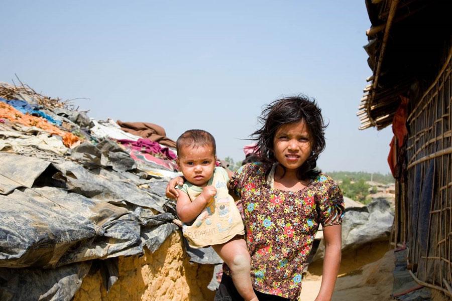 girl refugee of Kutupalong camp Coxs Bazaar Bangladesh