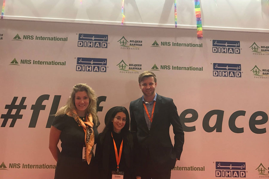 NRS International CSR team at DIHAD 2017_Fly for Peace campaign