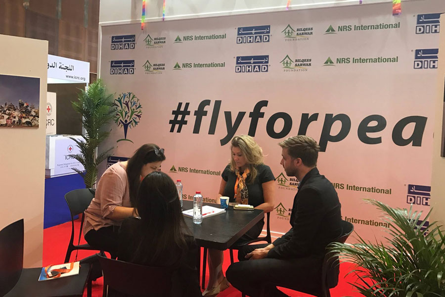 NRS International CSR team interviewed by The National at DIHAD 2017_Fly for Peace campaign