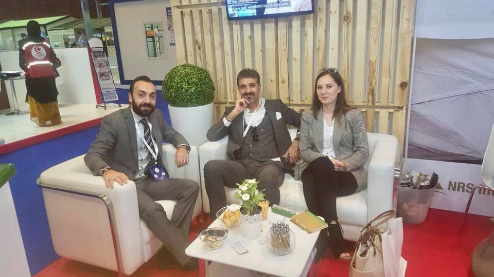 guest with NRS Relief team at DIHAD 2018