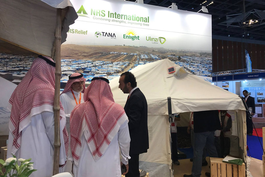 Local guests visiting NRS Relief booth at DIHAD 2017