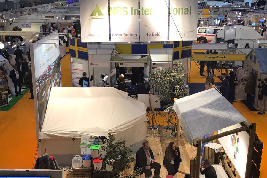 NRS International Aerial view at AidEx 2017 Brussels Expo