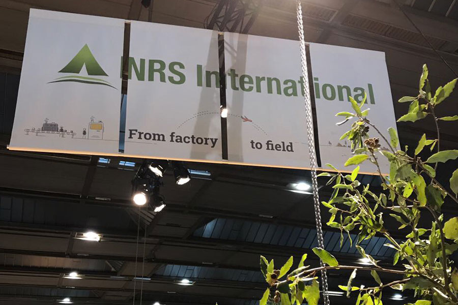 NRS International billboard at AidEx 2017 Brussels Expo