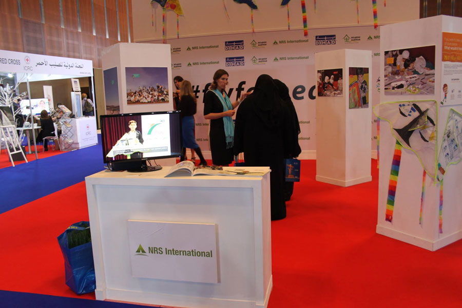 NRS International booth at DIHAD 2017 event