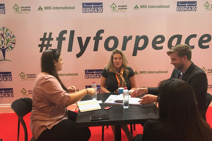 NRS International at DIHAD 2017_Fly for Peace campaign media interview