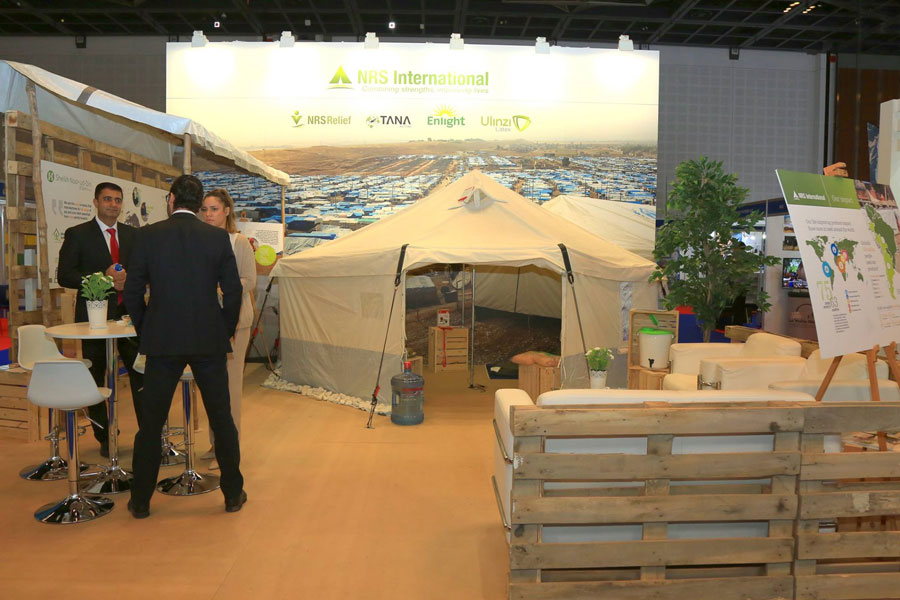 NRS Relief booth at DIHAD 2017 event