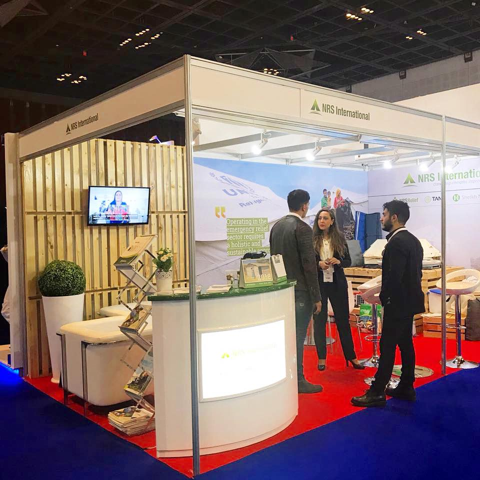 NRS Relief booth in DIHAD 2018
