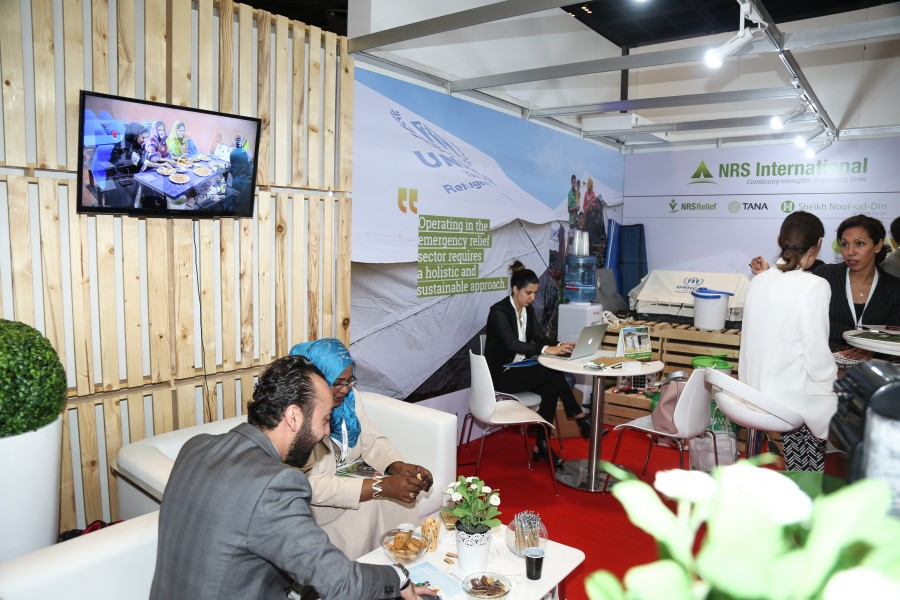 NRS Relief booth view at DIHAD 2018