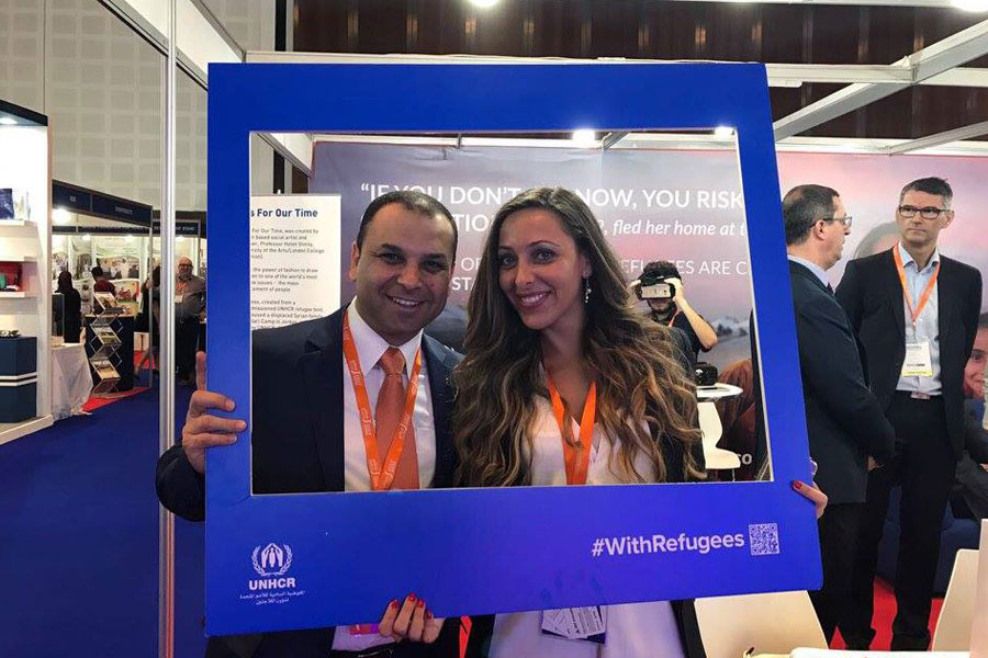 NRS Relief refugee frames at DIHAD 2017