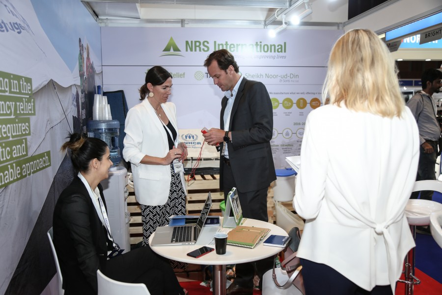 NRS Relief team sharing about solar light at DIHAD 2018