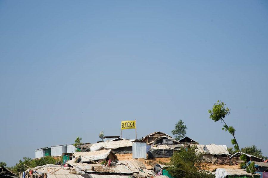 refugee area at Kutupalong camp Coxs bazaar Bangladesh