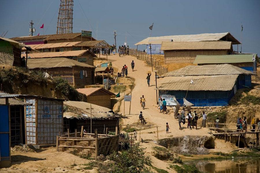 refugee area at Kutupalong Coxs Bazaar Bangladesh