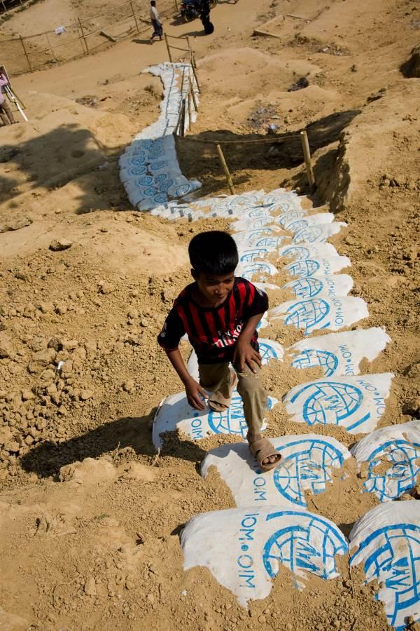 refugee boy at Kutupalong camp Coxs Bazaar Bangladesh