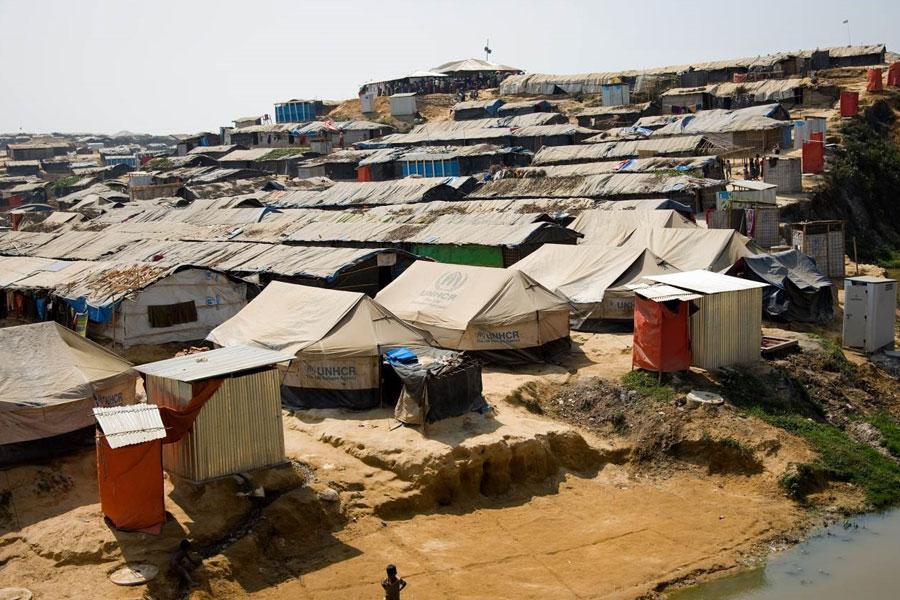 refugee camps at Kutupalong Coxs Bazaar Bangladesh