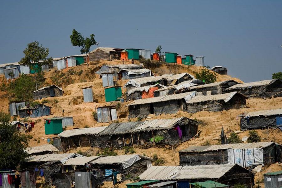 refugee shelter tents at Kutupalong camp Coxs Bazaar Bangladesh