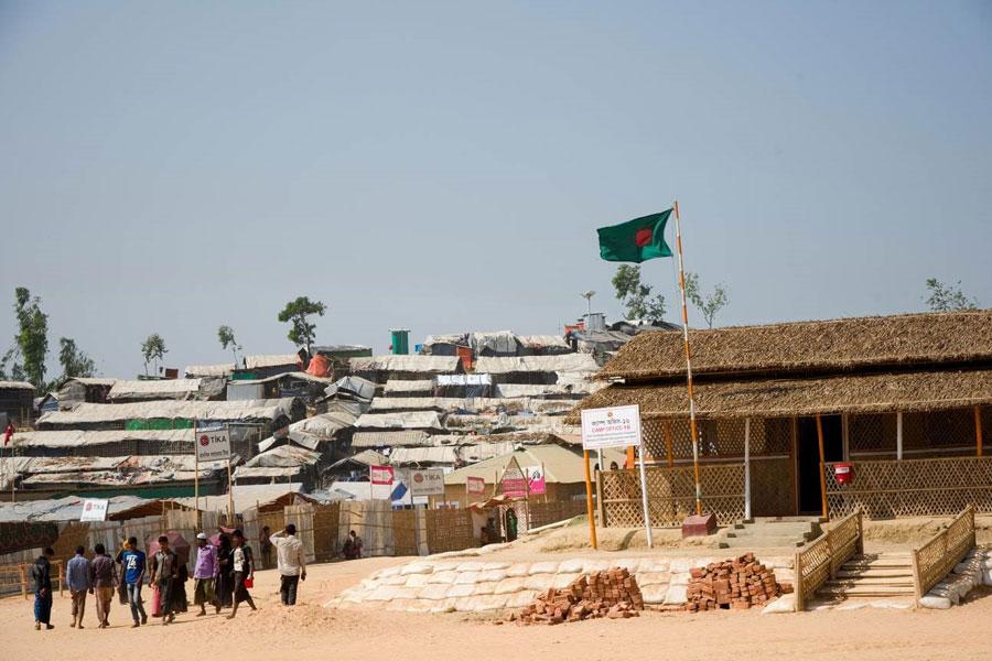 refugee tents at Kutupalong camp Coxs Bazaar Bangladesh