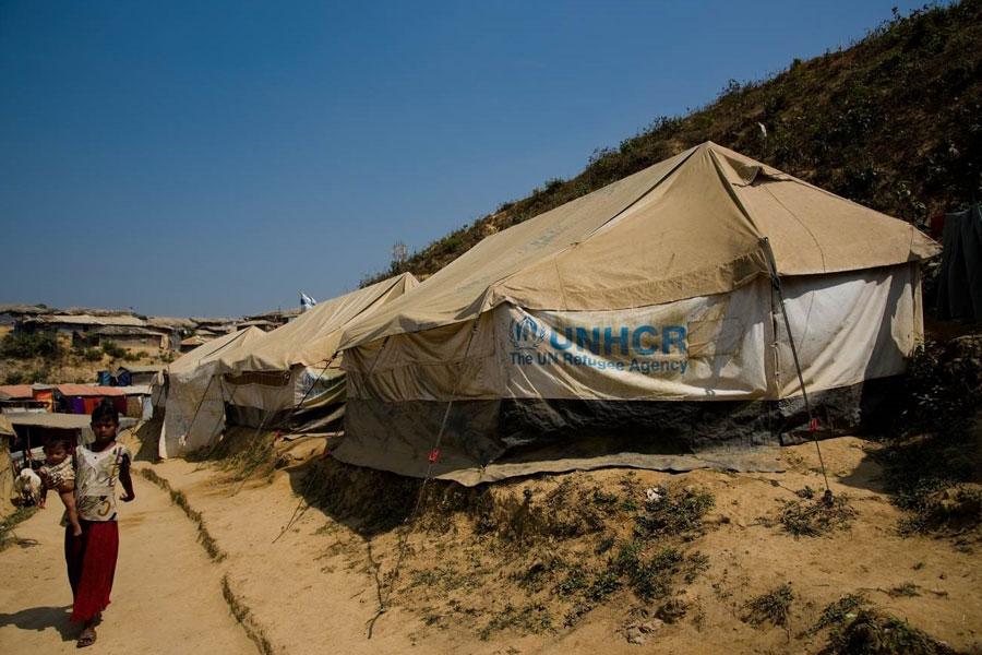 refugee tents of Kutupalong Coxs Bazaar in Bangladesh