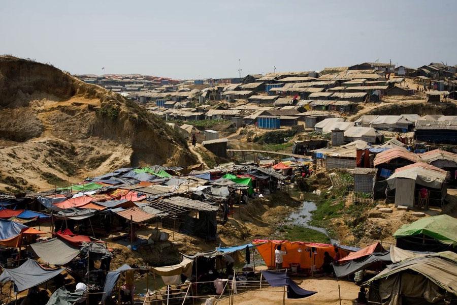 refugees living area at Kutupalong Coxs Bazaar Bangladesh