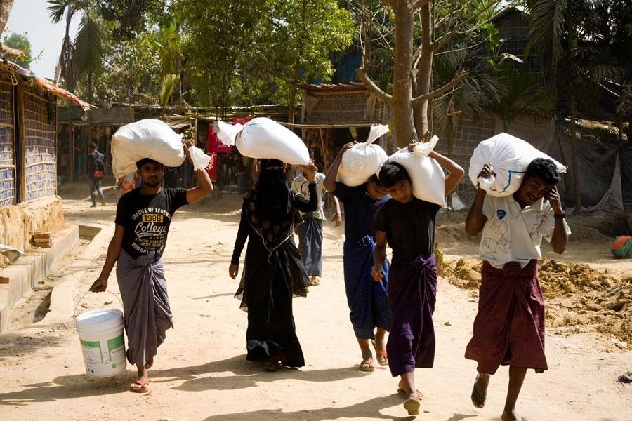 refugees of Kutupalong camp Coxs Bazaar Bangladesh