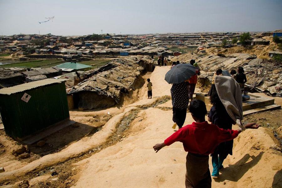 refugees of Kutupalong camp in Bangladesh